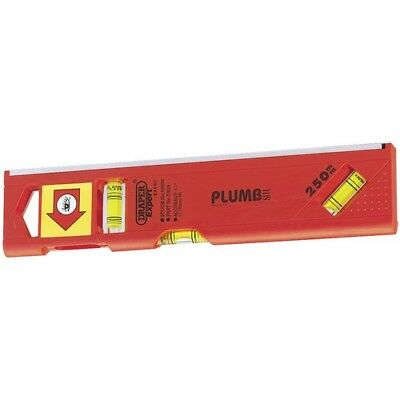 Draper 69554 Expert 250mm Plumb SiteDual View Torpedo Level with Magnetic Base