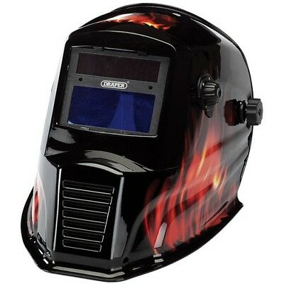 Draper 38392 Solar Powered Auto-Varioshade Welding and Grinding Helmet-Flame