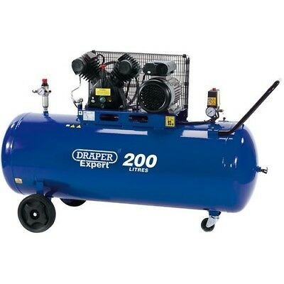 Draper 34383 200L 230V 2.2kW (3hp)  V-Twin Belt-Driven Air Compressor