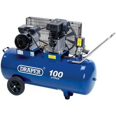 Draper 31254 100L 230V 2.2kW (3hp)  Belt-Driven Air Compressor
