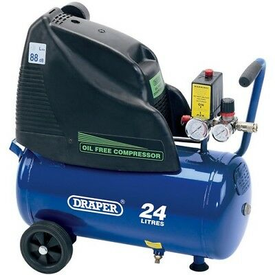 Draper 24978 24L 230V 1.1kW (1.5hp)  Oil-Free Air Compressor