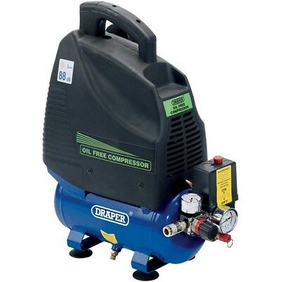 Draper 24974 6L 230V 1.1kW (1.5hp)  Oil-Free Air Compressor