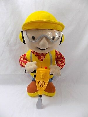 Bob The Builder Electronic Jackhammer Stuffed Plush Hasbro Talking 2001 13""