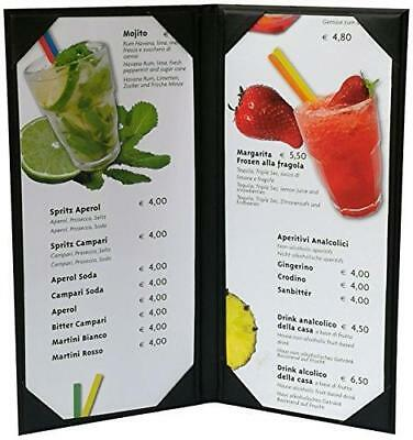 "5 Pcs of Restaurant Menu Covers Holders 4.75"" X 11"" Inches, Double View,Sold By"