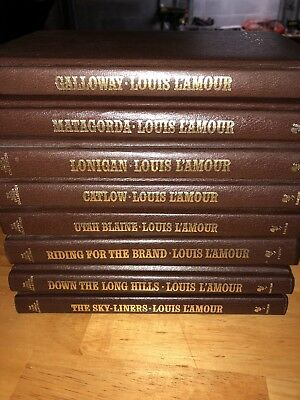 Louis L'Amour Leatherette Books Set Of Eight