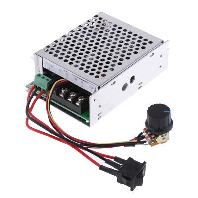 10V-50V 40A PWM DC Motor Speed Controller CW CCW Reversible Knob Switch