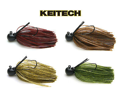 Keitech Tungsten Guard Spin Jig 1/8 Oz. Select Colors Bass Fishing Lure Bait