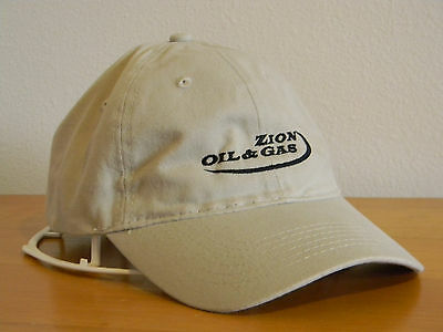 Cap Brand New Zion Oil & Gas Company High Quality Embroidered Logo Cap