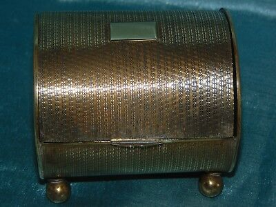 Lovely Vintage 1950's MCM Brass / Gilt Metal Caddy - Wonderful Form and Style!