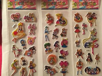 3set Sailor Moon Puffy Stickers(FREE Shipping)SALE💕Limited Time