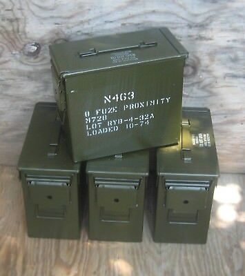 """( 4 Pack ) Tall 50 Cal. Ammo Cans   """"free Shipping"""""""