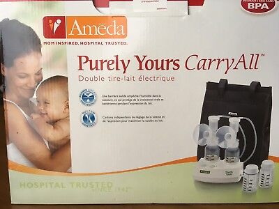 Ameda Purely Yours Breast Pump Carry All Double Electric Newin Box Breastpump