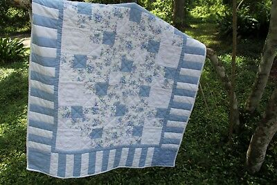New  Baby Quilt  blanket bedding Cotton Flannel Hand quilted