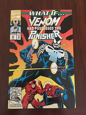What If...? #44 (Dec 1992, Marvel) * Venom possessed the Punisher! * VF/NM