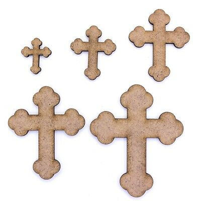 Rounded Cross Craft Shape, Various Sizes, 2mm MDF Wood. Church, Christian