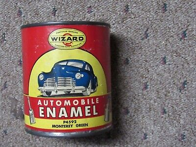 Antique Wizard Automobile Enamel Paint Can Never Used