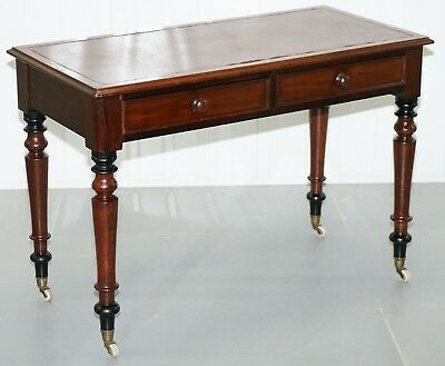 Stunning Period Victorian Mahogany Writing Desk 1860 Lovely Function Piece