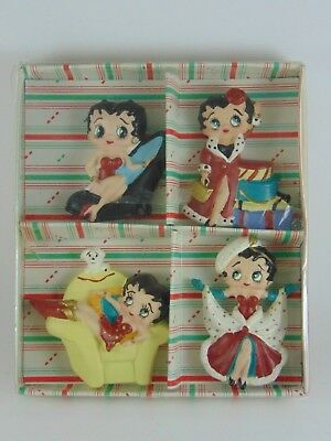 BETTY BOOP 1990s Vandor Fridge Magnet Holiday Set Doll Figure