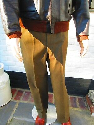 Original WW2 US Army Officers OD Wool Trousers size  37R