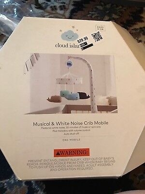 Cloud Island musical & white noise Crib mobile whales New