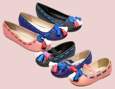 Lovely Kids Girls Flats Shoes Children Princess Bow-knot Shoes Soft Size 8-2.5