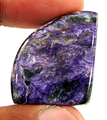45.75 Ct Natural Russian Charoite Loose Gemstone Cabochon Untreated Stone- 21397
