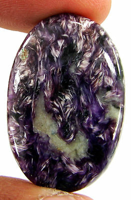 34.85 Ct Natural Russian Charoite Loose Gemstone Cabochon Untreated Stone- 21405