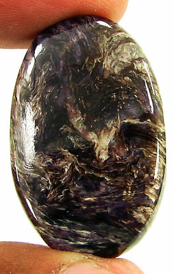 44.85 Ct Natural Russian Charoite Loose Gemstone Cabochon Untreated Stone- 21391