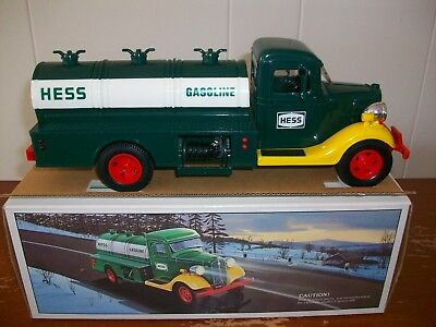 1985 Hess Truck Bank Near Mint With Box And Inserts/working Lights.