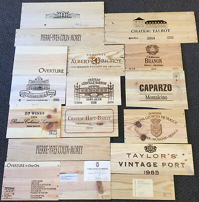 17 Wooden Wine Box End Panels from Wine Crates for Decoration Rare Wines Lot 4
