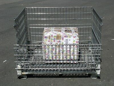 Collapsible Wire Cage Basket cargo container pallet rack shipping storage