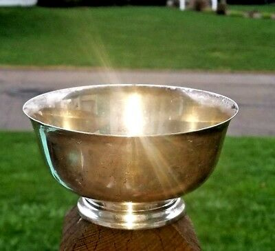 "Estate Boardman Paul Revere Repro 172 Sterling Silver Footed Bowl-5"" No Monos"