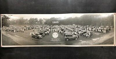 Ford Model A Restorer's Club yardlong panoramic photo Greenfield Village Detroit