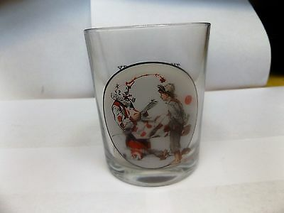 The Saturday Evening Post Norman Rockwell Glassware Collection Glass Clown