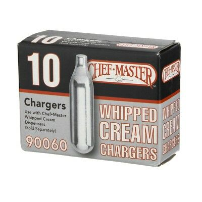 Chef Master Chargers 90060 NEW IN BOX 10 Count Whipped Cream Chargers