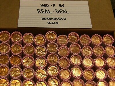 1960 P Lrg Date BU ROLL LINCOLN MEMORIAL CENTS *SEALED *UNSEARCHED BU RED COINS