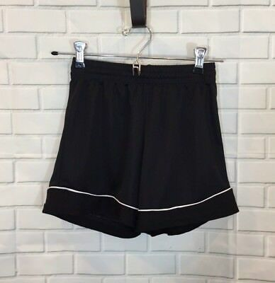Score Apparel Youth Kids Black Athletic Shorts W/ Elastic Waistband Size: Small