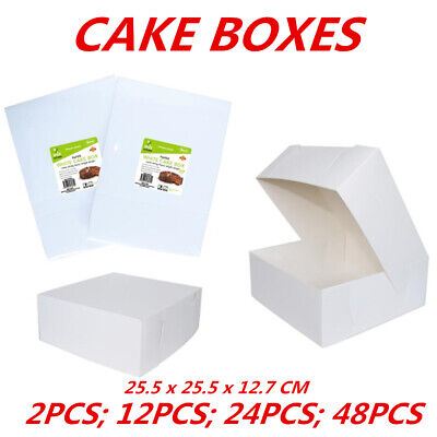 CAKE BOXES Cardboard White Cake Cupcake Box Birthday Party Food Bulk Buy Boxes W