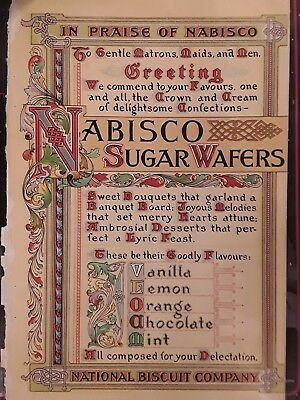 Early 1900s Nabisco Sugar Wafers Vintage Advertisement
