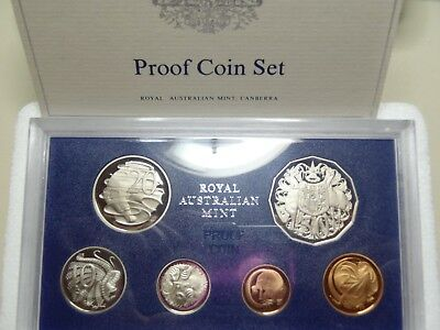 The Royal Austrailan Mint Mint 1983 Proof Coin Set+ Coa Mint Packing Rare