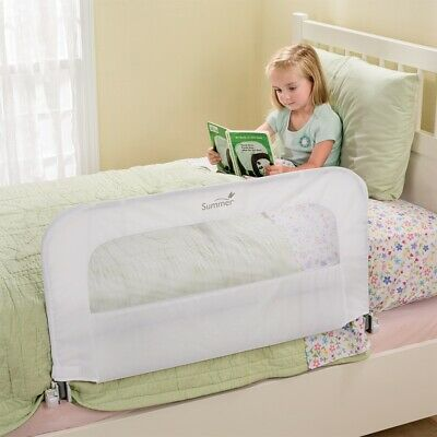 2 In 1 Convertible Crib Bedrail Toddler Kids Bedroom Bed Safety Rail Protection