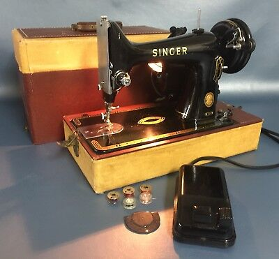 40 EJ VINTAGE Singer Portable Sewing Machine 40K Wcase Very Nice Delectable Vintage Singer Portable Sewing Machine