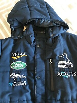 Brumbies Rugby Winter Jacket - Official - Size Large