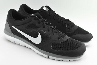 77d14adee8ea7 Mens Nike Flex 2015 Run Running Shoes Size 14 Us Black White Gray 709022 001