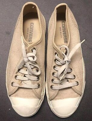 Vintage Converse Jack Purcell Shoes Sz.5.5 Beige 70's 80's Rare Made In USA