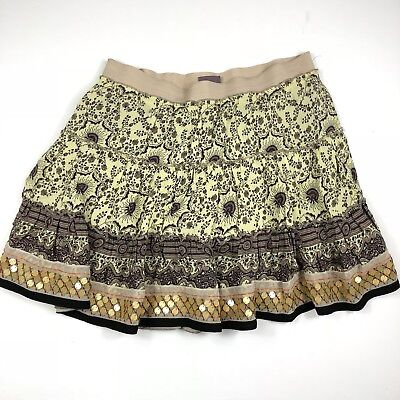 1bb1e31f60 FREE PEOPLE BOHO Print Mini Floral Circle Skirt With Sequin Detail Size  Medium - $25.00 | PicClick