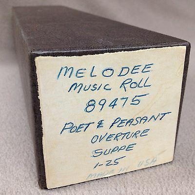 Melodee Piano Player Music Roll 89475 Poet & Peasant Overture Suppe