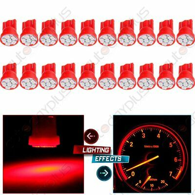 20Pcs  Red 6 SMD LED Bulbs T10 194 Instrument Panel Gauge Dash Light For Chevy