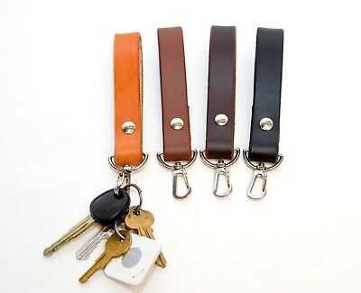 Leather Key Chain Handmade in USA Genuine Leather Keychain Strong leather