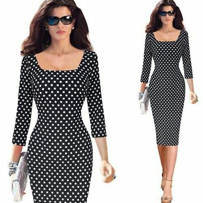 Vintage Style Floral Printed Square Neck Pencil Fitted Dress for Women